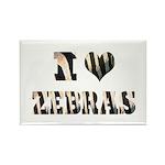 i love zebras Rectangle Magnet (10 pack)