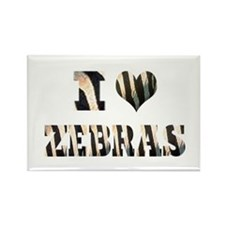 i love zebras Rectangle Magnet (10 pack)