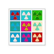 "post-pop-atomic-white Square Sticker 3"" x 3"""