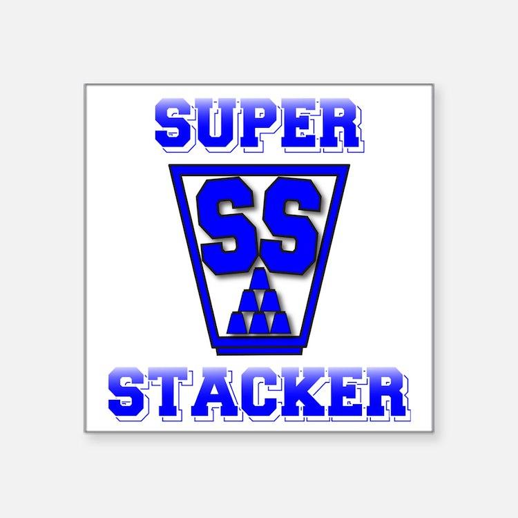 "blue2, SS Cup, freshamn Square Sticker 3"" x 3"""