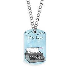 Typewriter Dog Tags