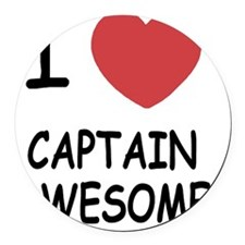 CAPTAIN_AWESOME Round Car Magnet