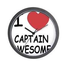 CAPTAIN_AWESOME Wall Clock