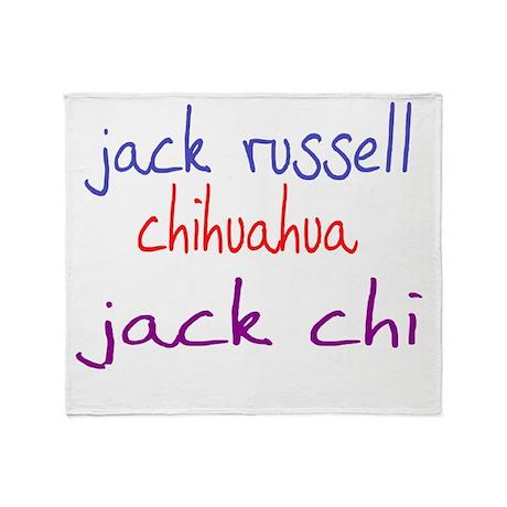 jackchi_black Throw Blanket