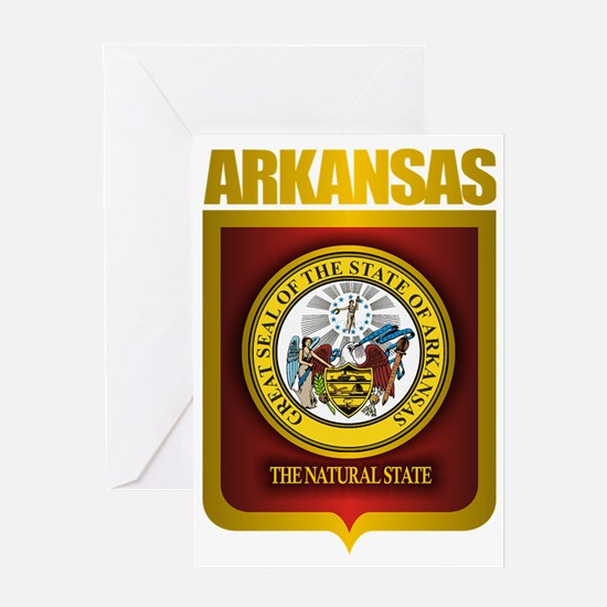Arkansas (Gold Label) Greeting Card