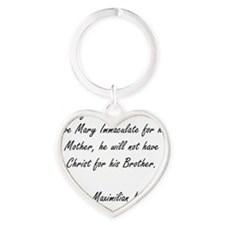 mother mary Heart Keychain