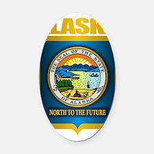 Alaska (Gold Label) Oval Car Magnet