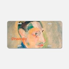 Igor Stravinsky Aluminum License Plate