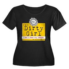 Dirty Gi Women's Plus Size Dark Scoop Neck T-Shirt