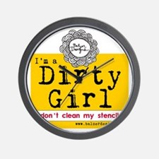 Dirty Girl Logo Wall Clock