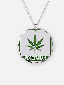 matt vegetarian copy Necklace Circle Charm