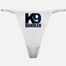 k9-handler02_black_blue Classic Thong