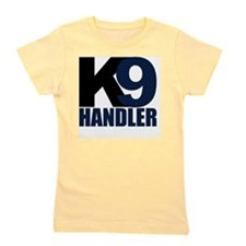 k9-handler02_black_blue Girl's Tee