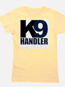 k9-handler02_black_blue Girl's Tee
