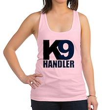 k9-handler02_black_blue Racerback Tank Top