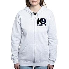 k9-handler02_black_blue Zip Hoodie