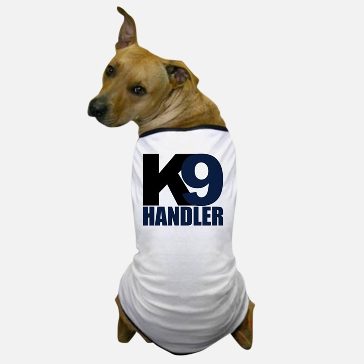 k9-handler02_black_blue Dog T-Shirt