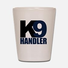 k9-handler02_black_blue Shot Glass