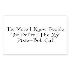 Like Pixie-Bob Rectangle Decal