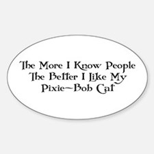 Like Pixie-Bob Oval Decal