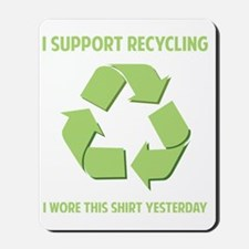 recycledWore1B Mousepad