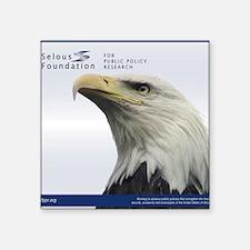 "Selous Eagle2 Square Sticker 3"" x 3"""