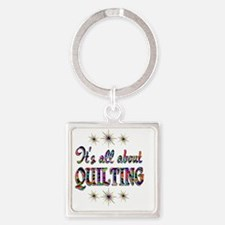 QUILTING Square Keychain