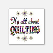 "QUILTING Square Sticker 3"" x 3"""