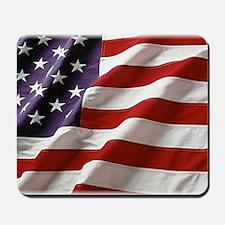 Burnin Flag Mousepad