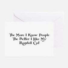 Like Ragdoll Greeting Cards (Pk of 10)