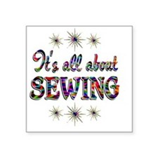"SEWING Square Sticker 3"" x 3"""