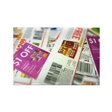 Coupon Scatter Rectangle Magnet