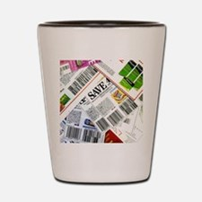 Coupon Scatter Shot Glass