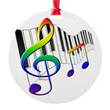 Music Round Ornament