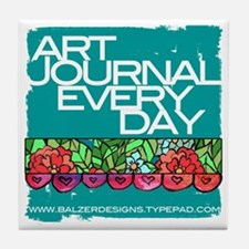 Art Journal Every Day Logo Tile Coaster