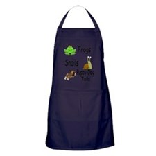 frogs snails puppy dog tails Apron (dark)