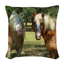 New hair Stylist Woven Throw Pillow