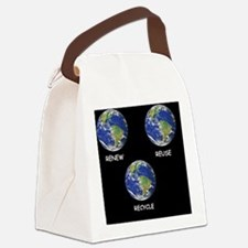 EARTH DAY RENEW REUSE RECYCLE Ear Canvas Lunch Bag