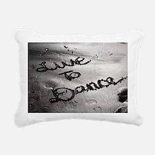 Live To Dance Rectangular Canvas Pillow