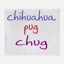 chug_black Throw Blanket