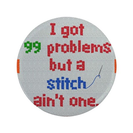 """Stitch 3.5"""" Button"""