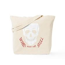 Bored Skull Tote Bag