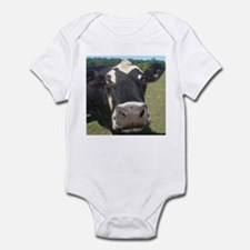 baldy cow Infant Bodysuit