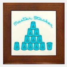 lt blue, Master Stacker,air conditione Framed Tile