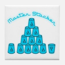 lt blue, Master Stacker,air condition Tile Coaster