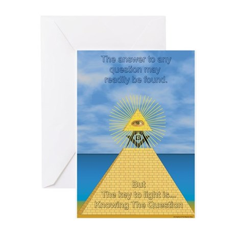 Masonic Pyramid Greeting Cards (Pk of 10)