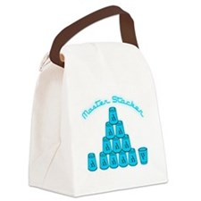 lt blue, Master Stacker,air condi Canvas Lunch Bag