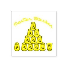 """yellow, Master Stacker,air  Square Sticker 3"""" x 3"""""""