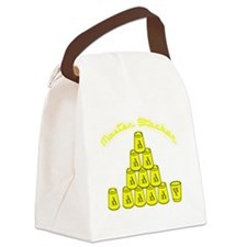 yellow, Master Stacker,air condit Canvas Lunch Bag