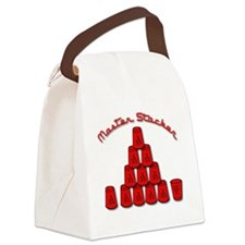 red, Master Stacker,air condition Canvas Lunch Bag